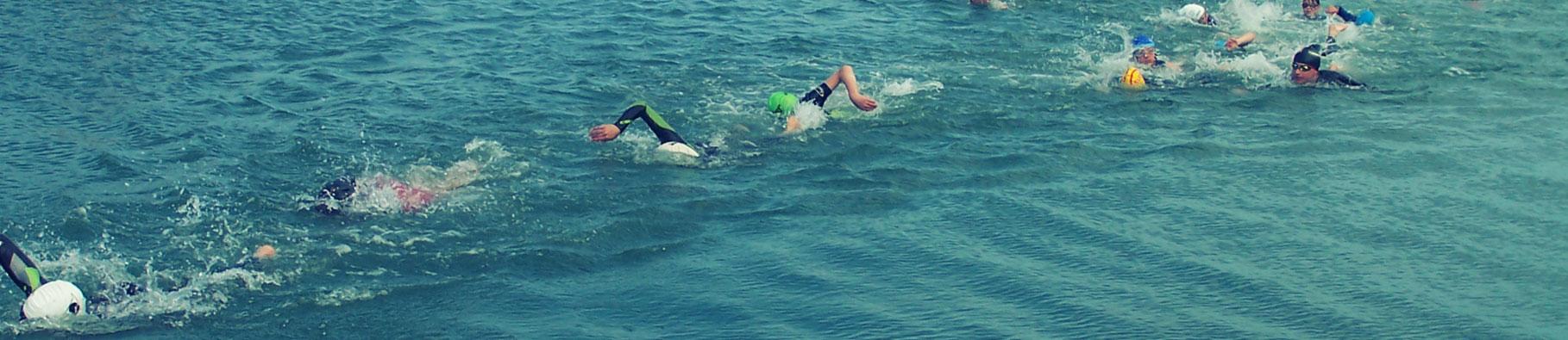 Junior triathlon event by Shoreline in Bude, Cornwall