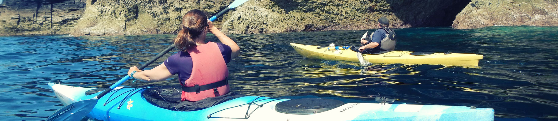Sea kayaking course at Shoreline in Bude, Cornwall